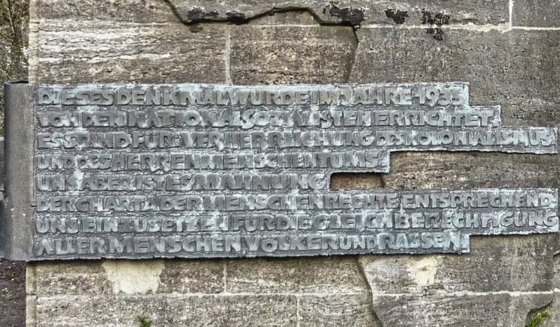 Mahntafel - Denkmal Carl Peters