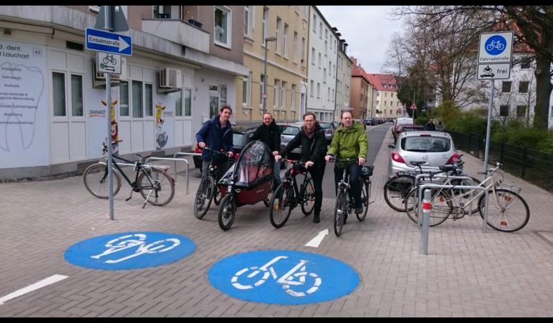 Fahrradstraße Große Barlinge Neueröffnung