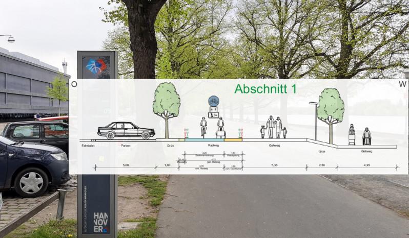 Radwegverbreiterung am Maschsee Rudolf-von-Bennigsen-Ufer